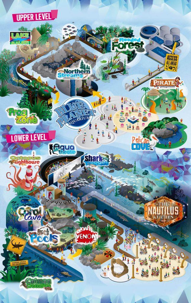 Blue Planet Aquarium Map