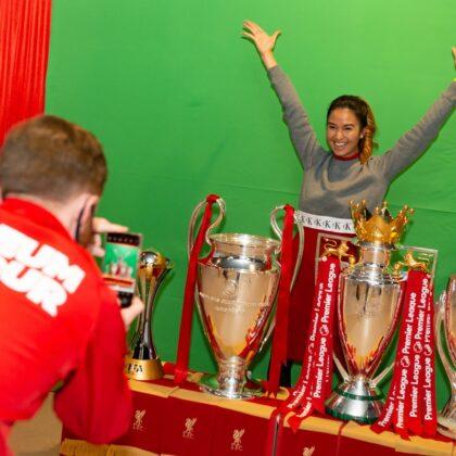 Trophies at Liverpool FC Stadium Tour