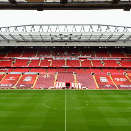 View of Anfield on the Liverpool FC Stadium Tour